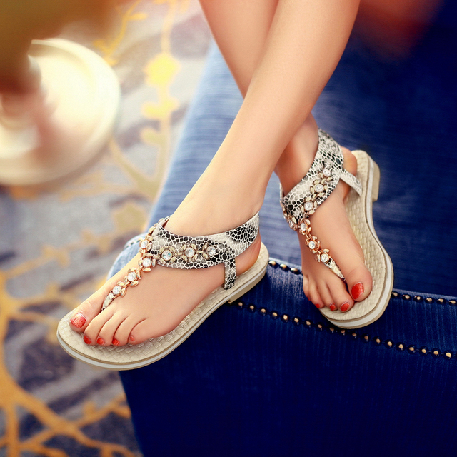 2014 Designer Sandals Rhinestone Rose Gold Flip Flops Slip-on Ladies Flat  Sandals Elastic Band 81d9c0e9b1dc