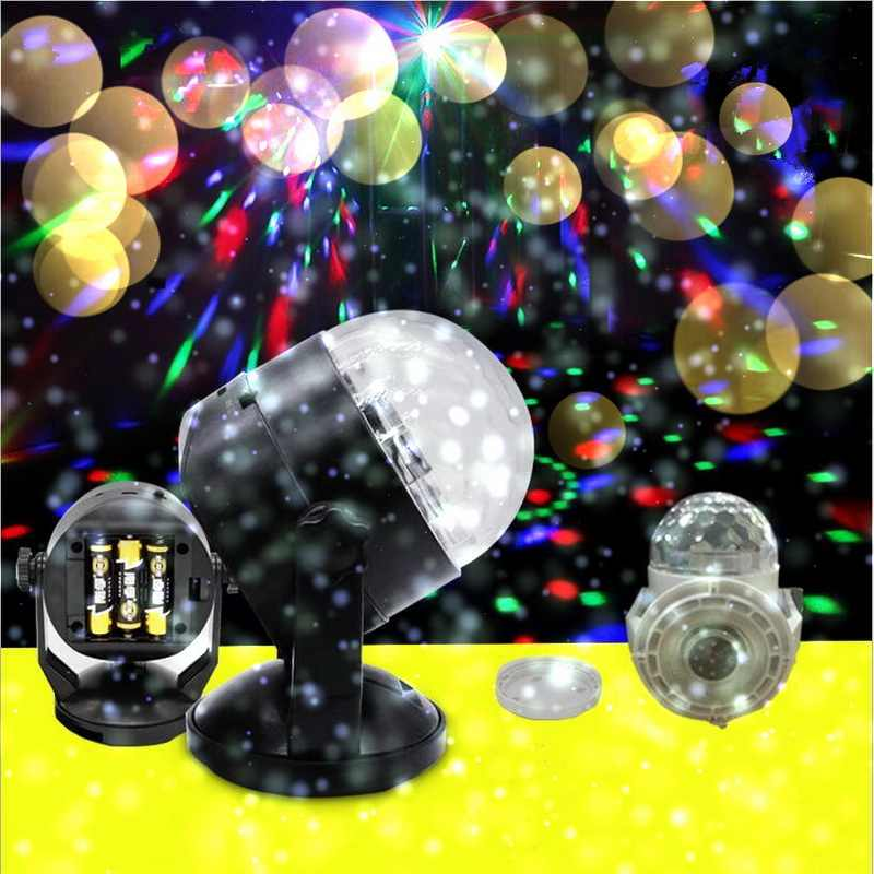 Mini Led Voice Control Magic Ball Lamp 3W RGB Control Stage Effect Light For Disco Ktv Club Bar Home Party