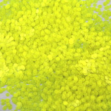 Mixed Dot  49-500grams/lot Mix Colors Round Spangle shape glitter Flake cosmetic powder for nail Gel (Neon lemon)
