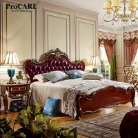 Procare 5 star luxury hotel room alibaba china natural wood bedroom sets design 6036