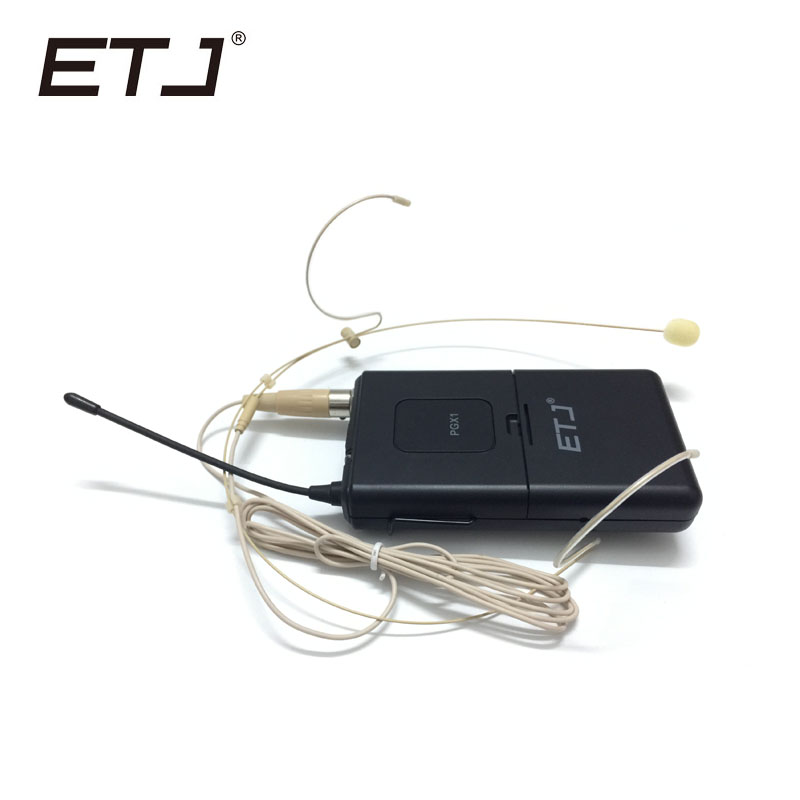 ETJ Brand UHF Professional Wireless Microphone System PGX PGX14 Skin Headset Microphone For Stage free shipping uhf professional sx 14 wireless microphone system with bodypack headset microphone band j3 572 596mhz