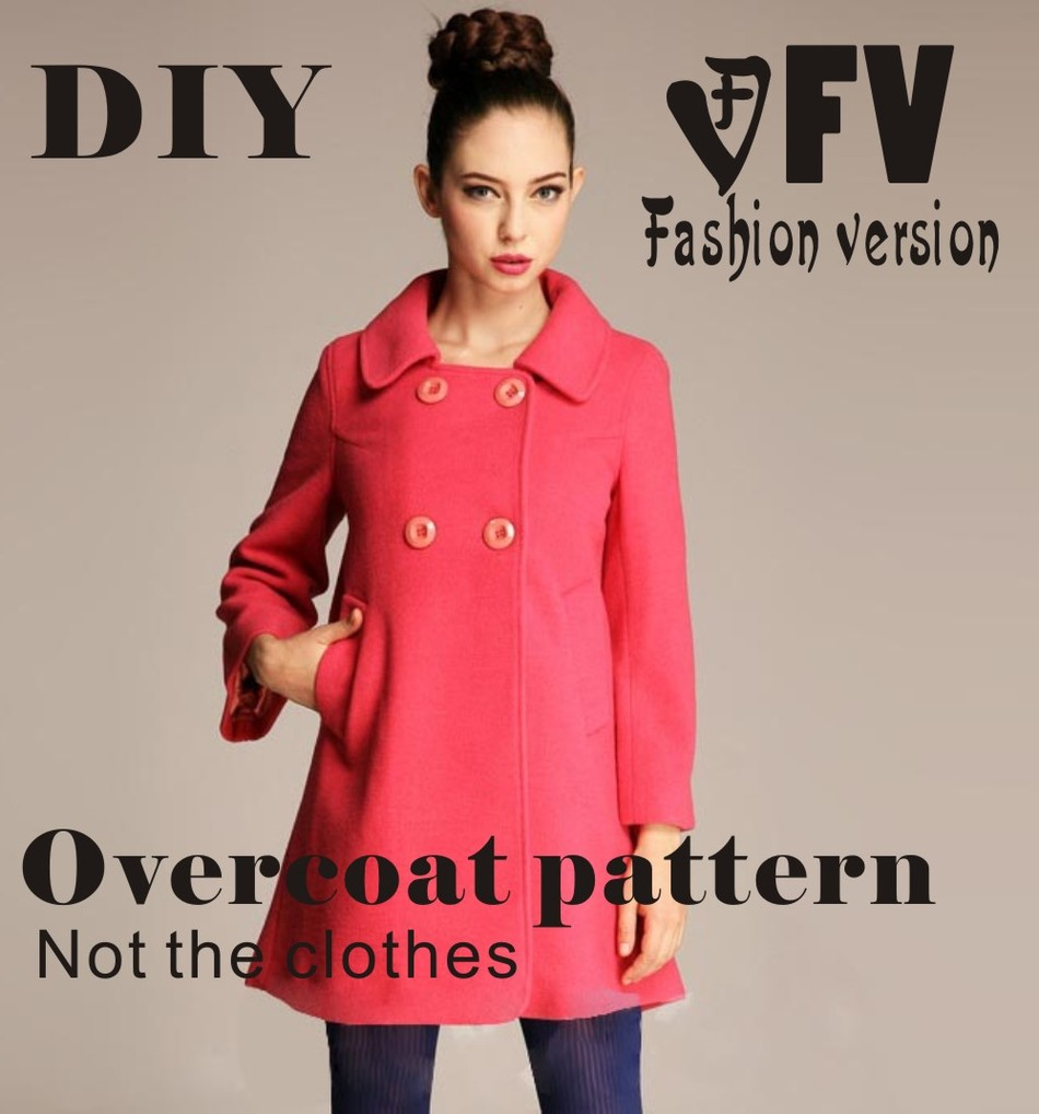 Clothing DIY Overcoat Sewing Pattern Coat Sewing Template Cutting Drawing BFY-15