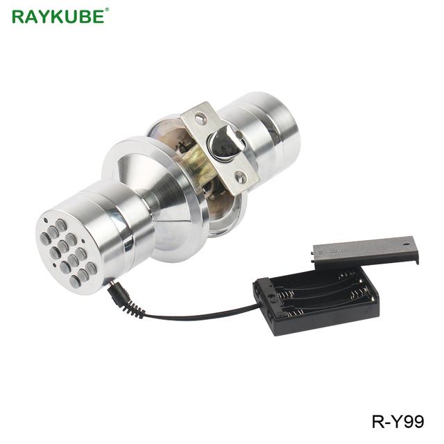 RAYKUBE Digital Electronic Lock Keyless Entry Knob Door Lock Password Code Unlock For Room Office Security Door R-Y99