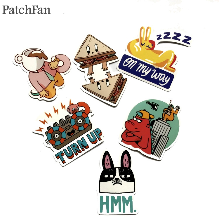 Patchfan 20pcs Funny letter feminist cartoon funny Kids Toy DIY phone Luggage Laptop Motorcycle Phone Waterproof Sticker A1679 in Stickers from Home Garden