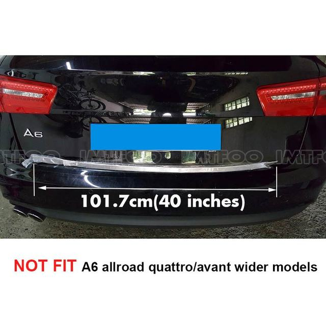 STAINLESS REAR DOOR TRUNK BOOT TRIM EXTERIOR MOLDING STICKERS FOR AUDI A6 C7 (sedans) 2012-2015 ACCESSORIES CAR-STYLING 3