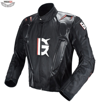 Motocross Racing Jacket PU Leather Jacket Body Armor Protection Equipment Moto Motorcycle Off-road Clothing Protective Gear