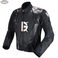 Motocross Racing Jacket PU Leather Jacket Body Armor Protection Equipment Moto Motorcycle Off road Clothing Protective Gear