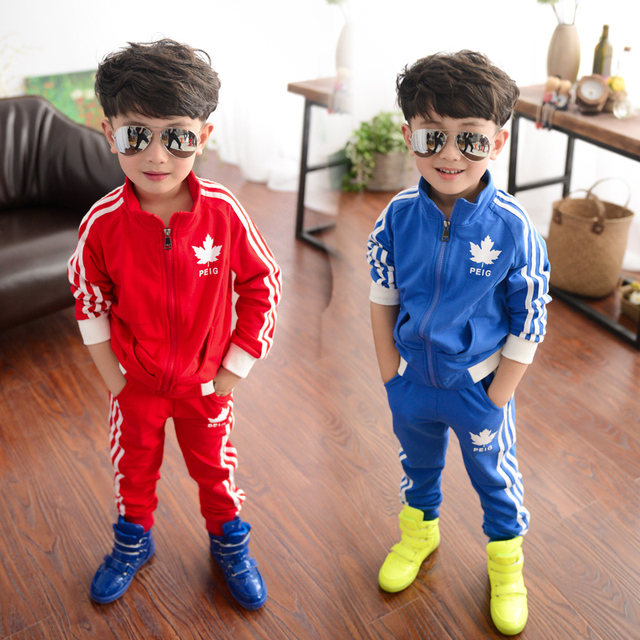 2015 ropa de los niños masculinos primavera niño conjunto niño conjunto  deportivo de manga larga conjunto b1e3bddb73f8