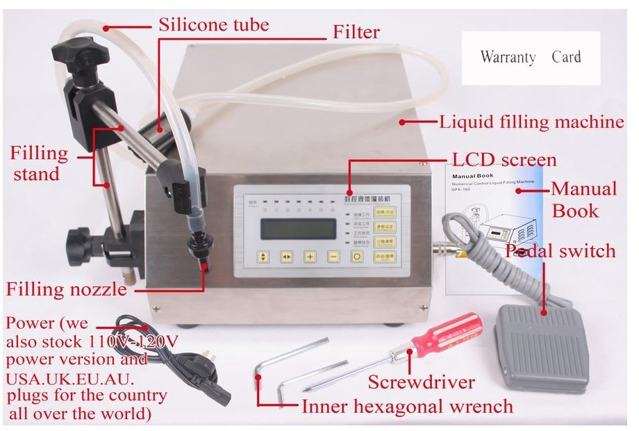 best price Electrical liquids filling machine water digital filler automatic pump sucker beverage oils packaging equipment tools цена