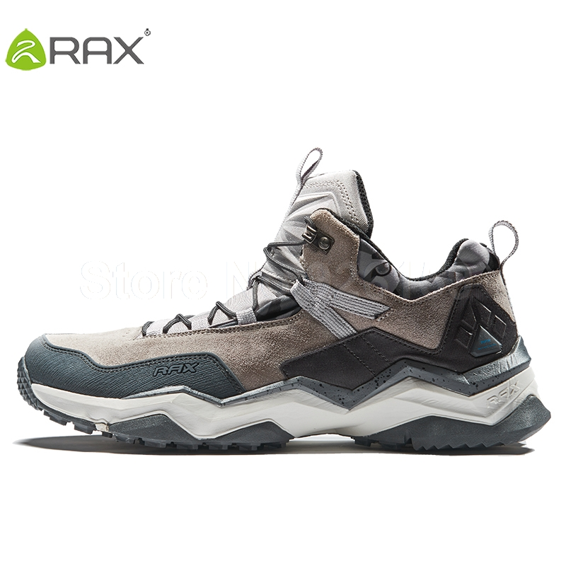 RAX Mens Waterproof Hiking Shoes Breathable Hiking Boots Men Women Trekking Shoes Outdoor Boots Men Outdoor Sports Shoes