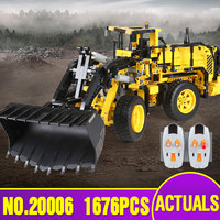 NEW LEPIN 20006 Technic Series 1636pcs Volvo L350F Wheel Loader Model Building Blocks Bricks Compatible With