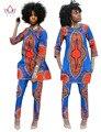 2017 Primavera Duas Peças Set Cera Top e Calças Mulheres Ternos duas Peças Set Mulheres Africanas Roupas Plus Size 6xl Marca Personalizado WY484