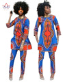 2017 de Primavera de Dos Piezas Conjunto Cera Top y Pantalones Trajes de Las Mujeres de dos Piezas de Ropa De Las Mujeres Africanas Más Tamaño 6xl Marca Personalizada WY484