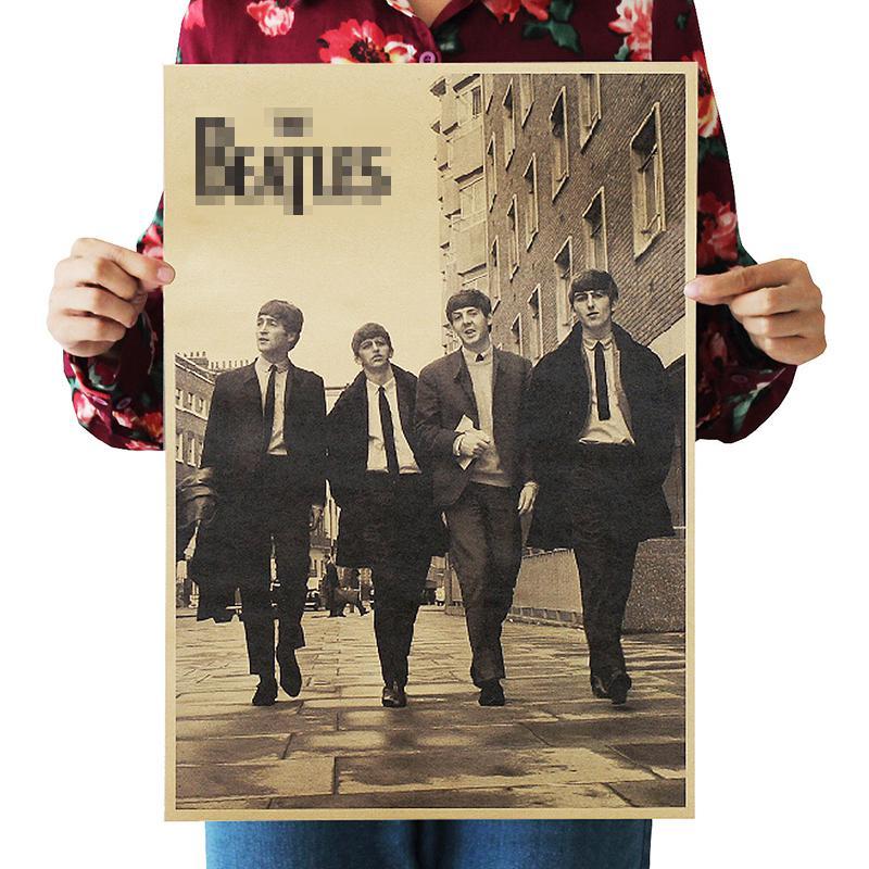 DLKKLB Ностальгический рок-группа крафт-бумага музыкальный постер для бара/Кафе Ретро плакат Декор Живопись 51x36 см рок не мертвый стикер на стену - Цвет: As show