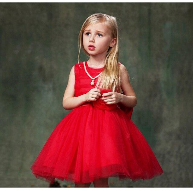 Summer Baby Girl Wedding Dress Princess Kids Party Wear 5 Colors