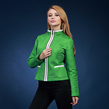 2016 slim color block decoration small cotton-padded jacket stand collar women's thin outerwear wadded jacket fashion . 4