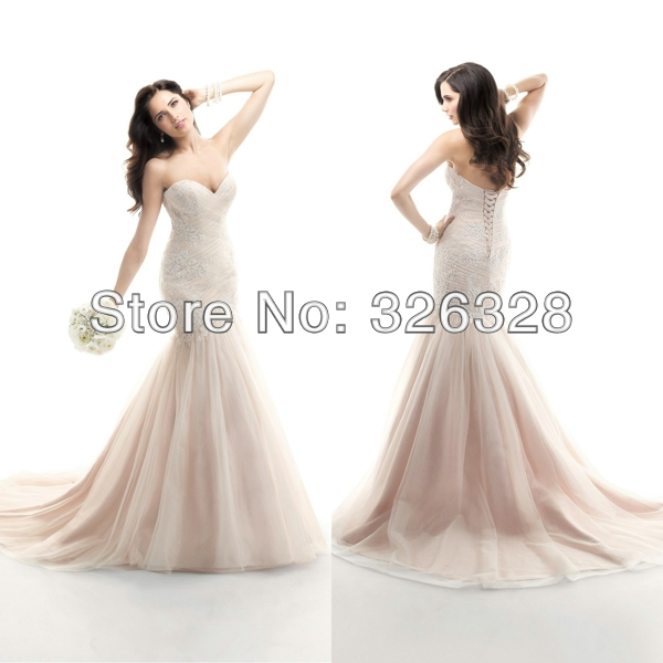 Spring 2014 sweetheart neckline ruched bodice tulle floor for Sweetheart neckline ruched bodice wedding dress