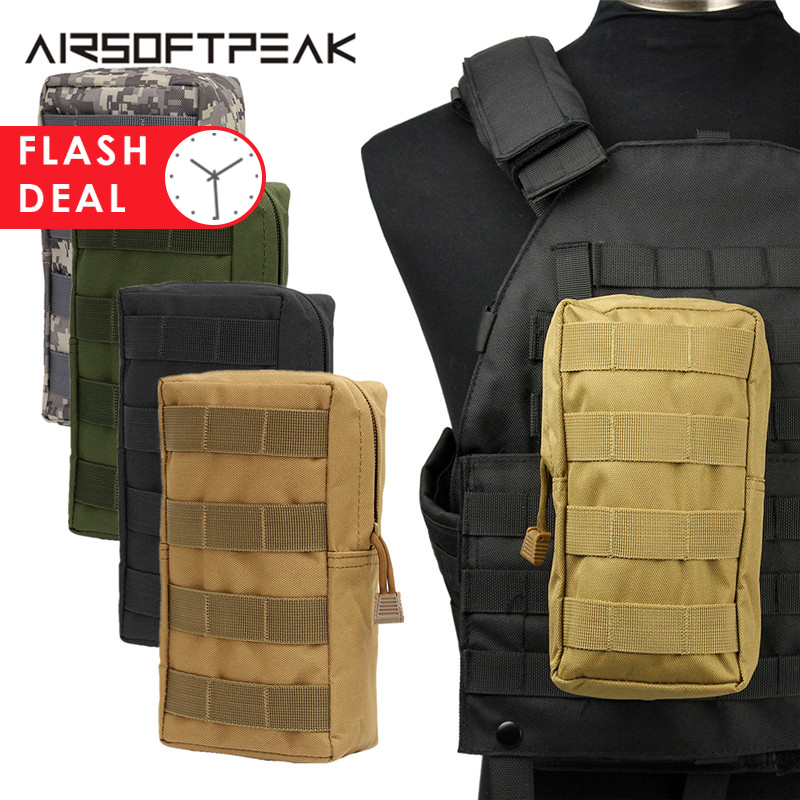 AIRSOFTPEAK Molle Pouch Vest Bags Accessory Tool Kits Waist Bag Nylon Utility Fanny Pack Paintball Outdoor Hunting For Vest Bags