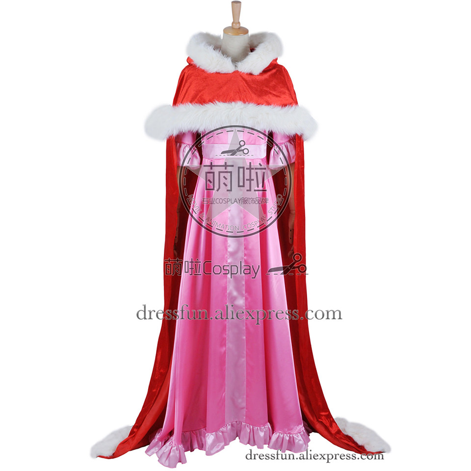 Beauty And The Beast Cosplay Belle Costume Red Cape Outfits Full Set ...