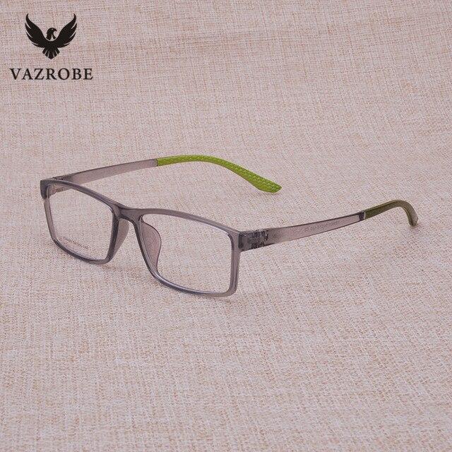 Vazrobe Marca Estilo Transparente Óculos de Armação Homens Moda Limpar  Custom-fazer Lentes de Prescrição 856a4ee574