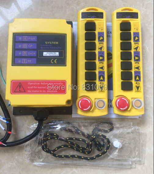1pcs 2 Transmitters 8 Channels Hoist Crane Radio Remote Control System 24V new 2 transmitters