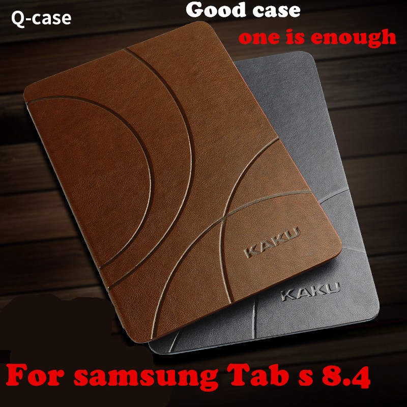 Kaku Magnet Classic PU Leather Case Smart Cover for samsung galaxy Tab S 8.4 T700 T705C Tablet case Flip Cover luxury folding flip smart pu leather case book cover for samsung galaxy tab s 8 4 t700 t705 sleep wake function screen film pen