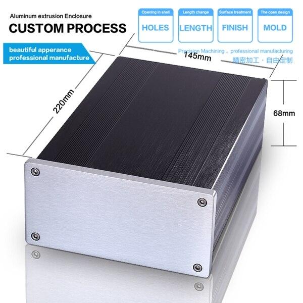YGW-013 145*68*220mm en aluminium pcb armoire à instruments boîtier utilisé dans chaque industrie armoires électriques