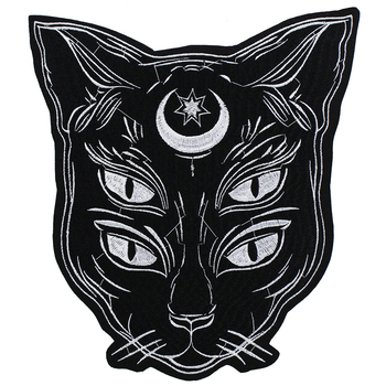 1pc Fashion Cool Eye Wolf Dog Cat Head Patches for Clothing Iron On Embroidered Appliques DIY Apparel Accessories Patch TH1504 2
