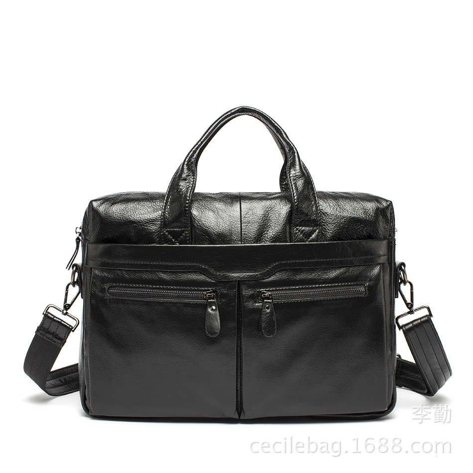 Fashion Brand Men s Handbags Business Shoulder Hand Bags Genuine Leather font b Laptop b font