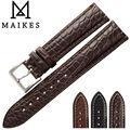 MAIKES Novo Luxo Acessórios de Couro de Jacaré Genuíno Cinta faixa de Relógio Brown 18 20 21 22 24mm Pulseira de Crocodilo Para IWC