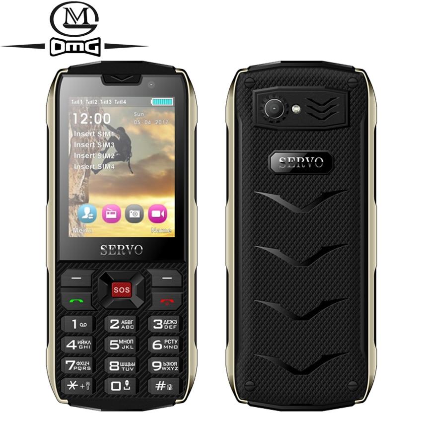Russian keyboard Mobile Phone 2 8 4 SIM card 4 standby Flashlight GPRS 3000mAh Power Bank
