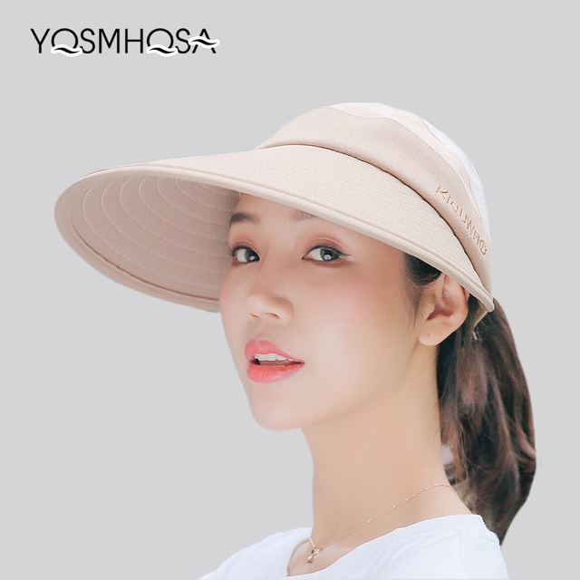 a1baf2363 US $6.96 50% OFF|Aliexpress.com : Buy New Fashion Sport Empty Top Visor Sun  Hats for Women Summer Hat Girls Outdoor Caps UV Protection Unisex ...