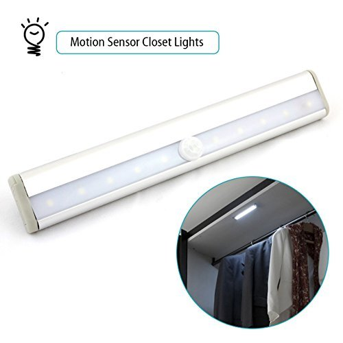 Lightinbox LED Motion Sensor Closet Lights   10 Led Wireless Battery  Powered Pir Motion Sensor Lights