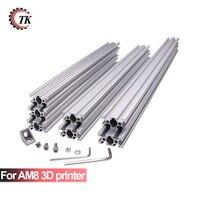 AM8 3D принтеры Алюминий металла профиля рамы с орехами винт угловой кронштейн для Анет A8 14