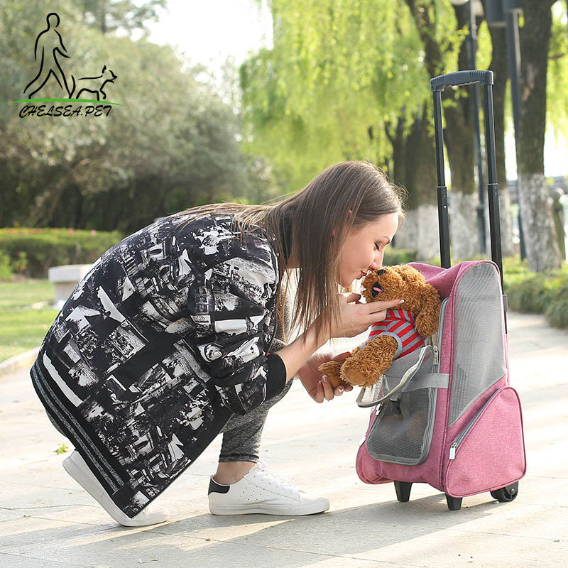 Travel tale Foldable pet Rolling Luggage Spinner Cat/dog Suitcase Wheels 20 inch Carry on Trolley pets Shoulder Travel BagTravel tale Foldable pet Rolling Luggage Spinner Cat/dog Suitcase Wheels 20 inch Carry on Trolley pets Shoulder Travel Bag
