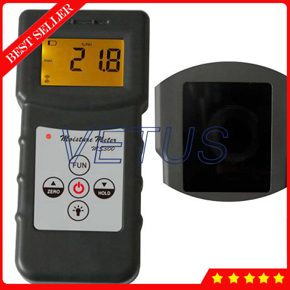 MS300 4 digital LCD Concrete Moisture Meter with wood Timber Bamboo Carton glasses Moisture Analyzer Tester