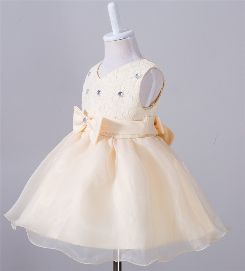 Baby Christening Bow Dress (3)