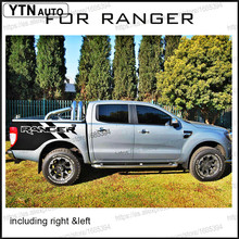 цена на free shipping 2 PC RANGER body rear tail side graphic vinyl decals for 2012 2013 2014 2015 2016