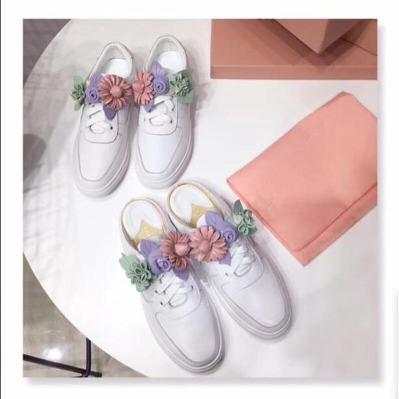 as De Colores Dulce Feminino Tenis Elegante Zapatos Sandales As Los Nuevo Real Show Florales Talón Show Mezcladas Planos Mujer Estilo Ocasionales Femme Cuero S1WgP1wq