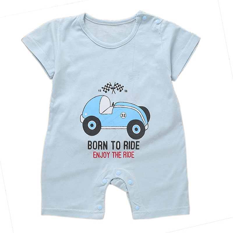 Baby   Rompers   Summer Style Powered Baby Boy Girl Clothing Newborn Infant Car Short Sleeve Clothes Bebe De Roupa