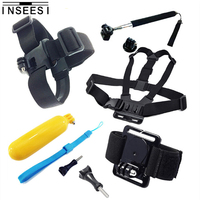 INSEESI Professional Sports Camera Suit 5 In1 Accessory Kit Set Chest Harness Head Strap Floating Bobber