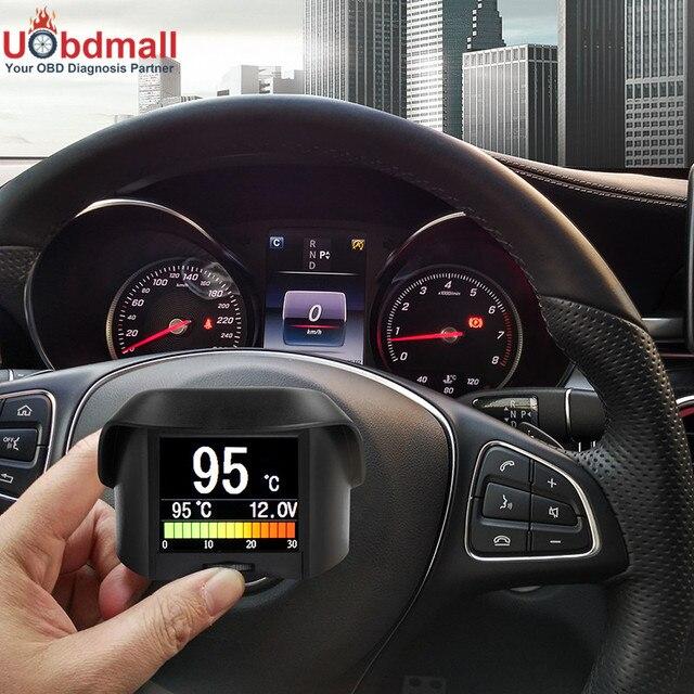 Ансель A202 Многофункциональный Автомобиль OBD Смарт-Цифровой Метр + Сигнализация Код Неисправности Охлаждающей Жидкости Датчик Температуры Напряжение Измеритель Скорости дисплей