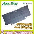 "Apexway 50wh 7.3 v bateria do portátil para apple Macbook Air 13 ""A1369 A1377 A1405 MC504 MC965 MC966 MD231 MD232"