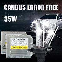 C3 35 W CANBUS קסנון H1 H3 H4 H7 H11 9005 9006 881 ערכת HID רכב פנס קסנון H7