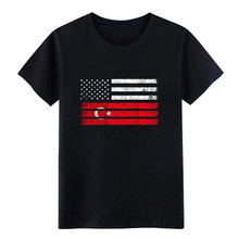 Men's Turk American Flag - USA Turkey Shirt t shirt Customize cotton Costume Graphic Comical Spring Formal shirt(China)