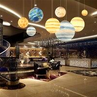 modern Creative design Universe Planet led bulb Pendant Light Moon Sun Earth Mars Uranus Mercury Jupiter Saturn Planet Lamps