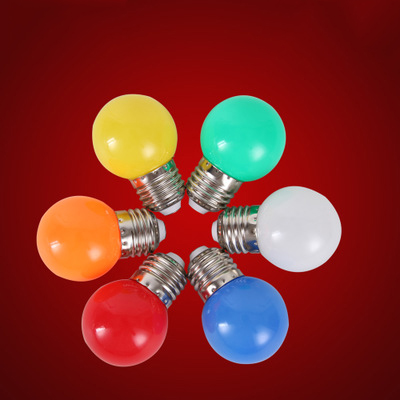Led light bulb color e27 screw port 3w red small bulb outdoor led light bulb color e27 screw port 3w red small bulb outdoor decoration atmosphere colorful lighting energy saving lamp 50 pcs in led bulbs tubes from mozeypictures