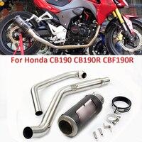 Мотоцикл выхлопной подключения передней среднего звена трубы глушитель трубы слипоны CB190 CB190R CBF190R для Honda