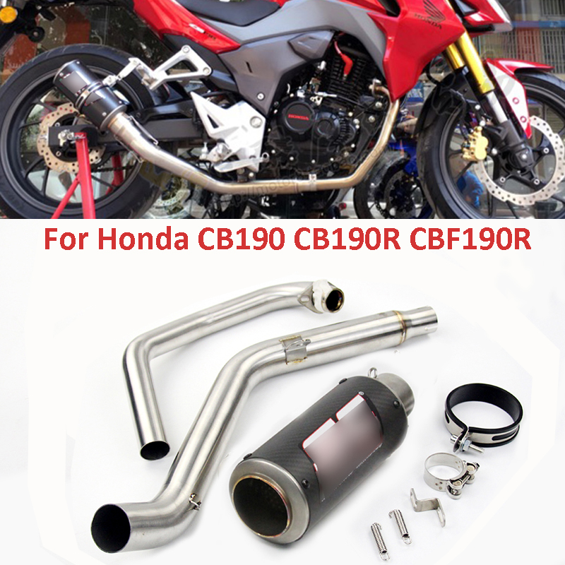 Motorcycle Exhaust Connect Front Middle Link Pipe Exhaust Muffler Pipe Slip On CB190 CB190R CBF190R For Honda