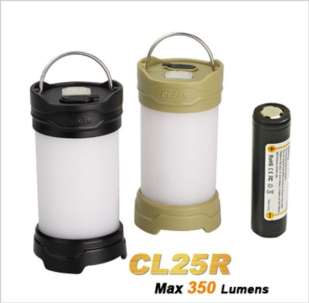 цена на 2015 New Fenix CL25R Camping Lantern 350 Lumens 2 Color 6 Mode Magnetic Base Hang Camp Lamp + 1 PC 2300mAh 18650 Li-ion Battery